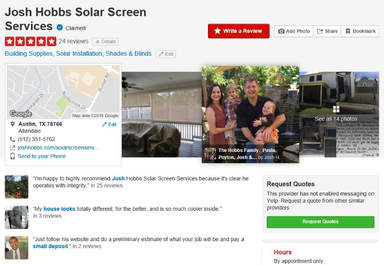 reviews for Austin solar screen roller shades